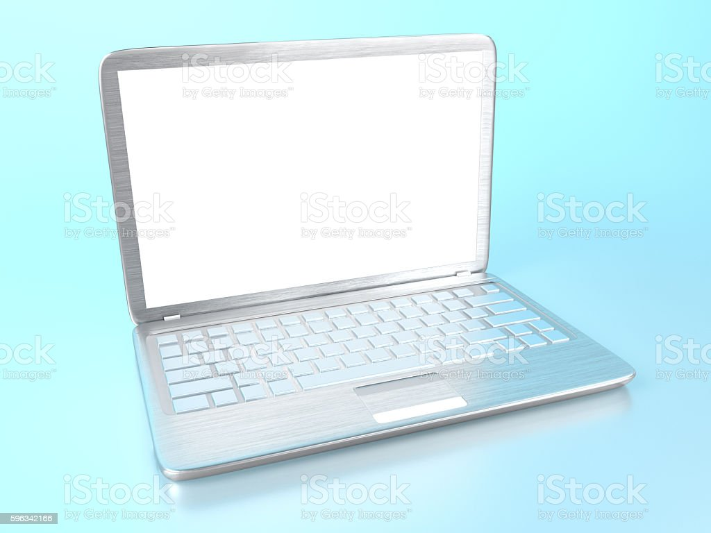 Modern laptop PC Lizenzfreies stock-foto
