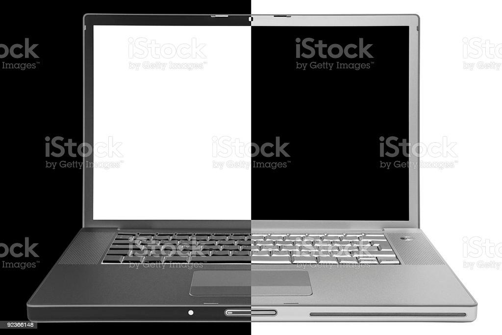 Modern laptop royalty-free stock photo