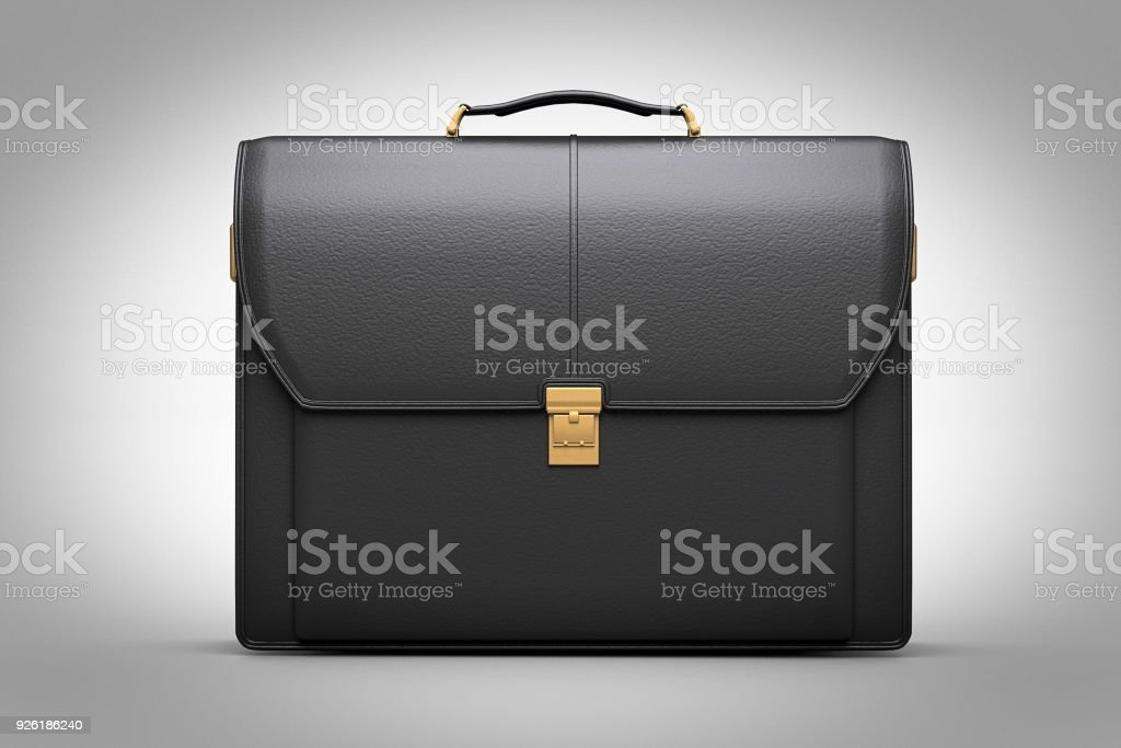 modern leather briefcase with Professional Style 3d render stock photo