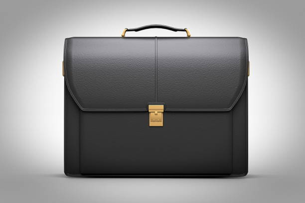 modern leather briefcase with Professional Style 3d render - foto stock