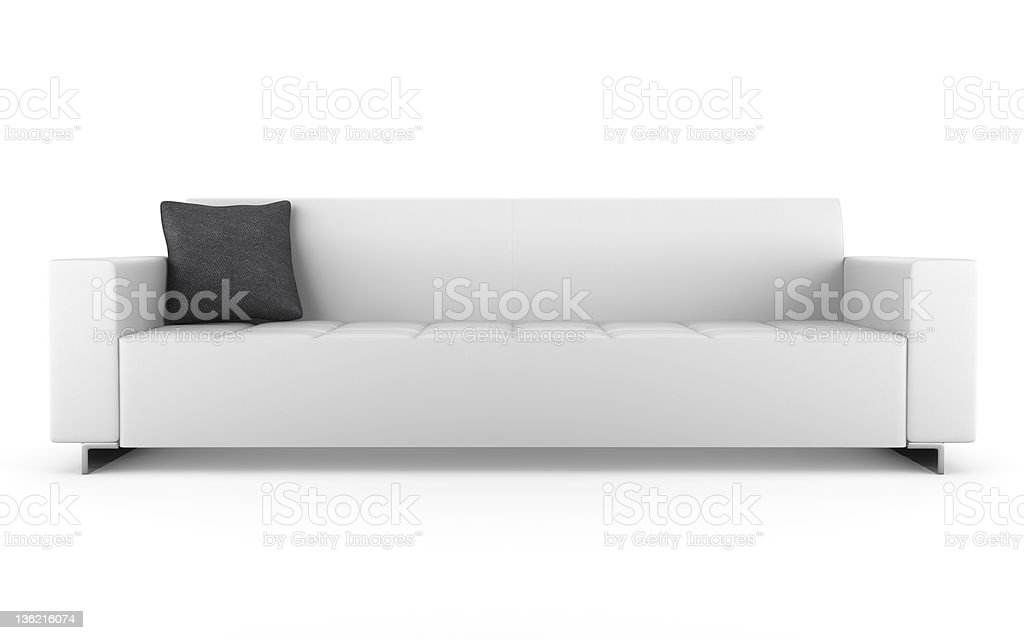 Picture of: Modern Leather Couch Isolated On White Background Stock Photo Download Image Now Istock