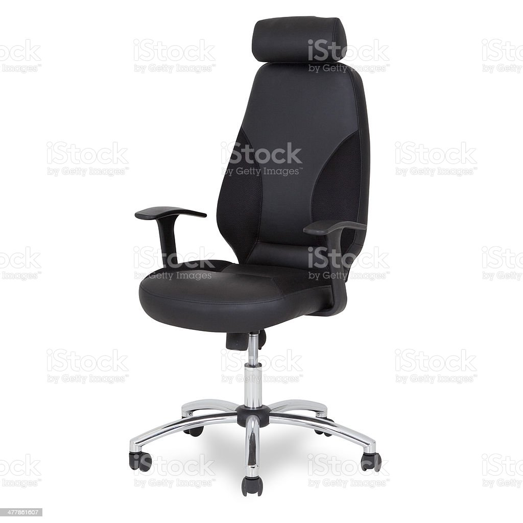 Modern Leather Office chair Isolated royalty-free stock photo