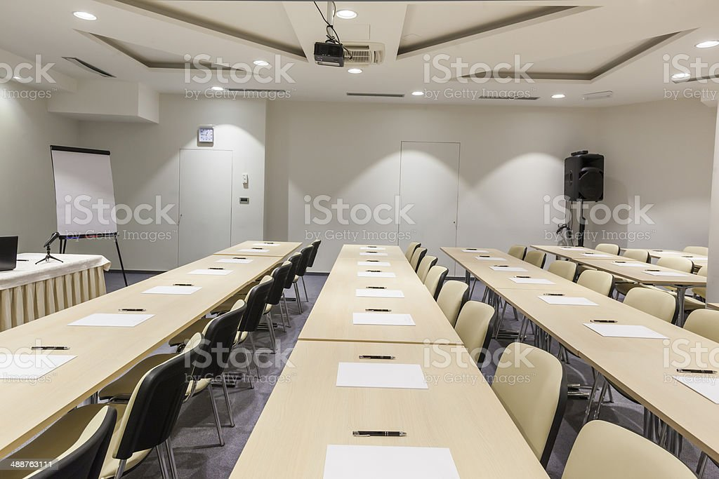 Modern lecture hall stock photo