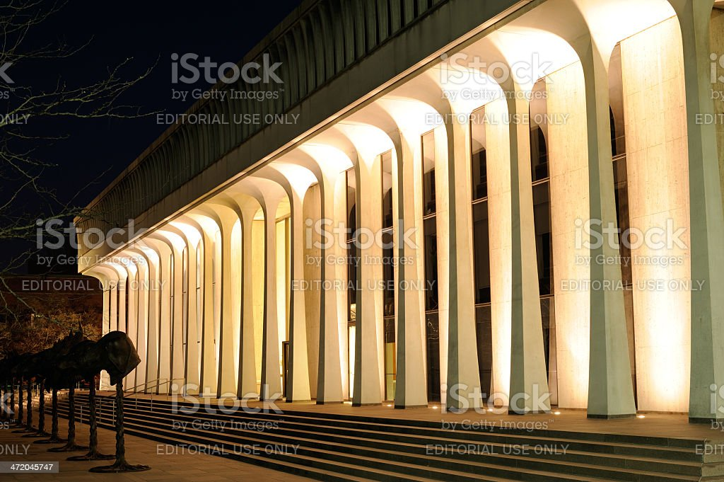 Modern Library Building in Princeton stock photo