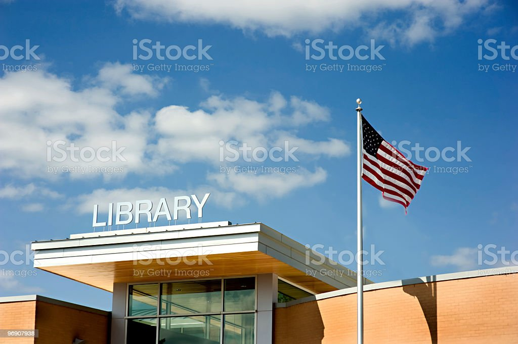 Modern Library Building stock photo