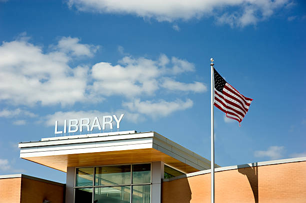 Modern Library Building  community center stock pictures, royalty-free photos & images