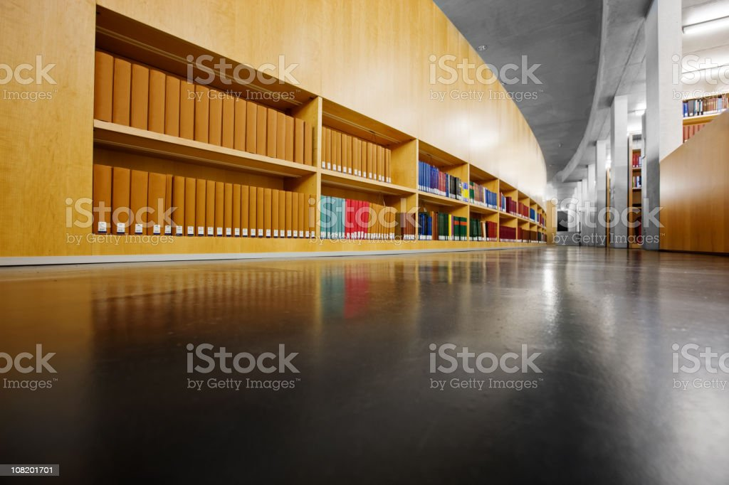Modern Library royalty-free stock photo