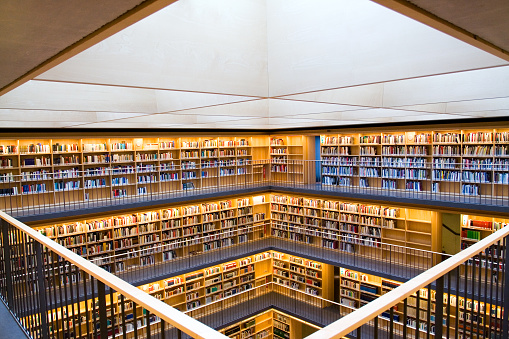 Modern Library Stock Photo - Download Image Now