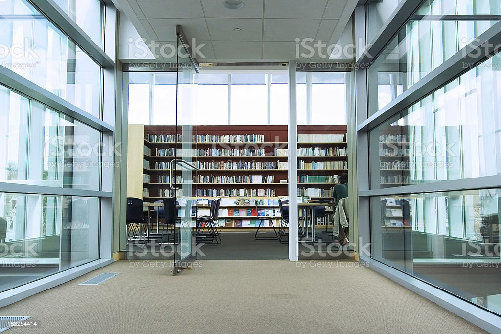 Modern library stock photo