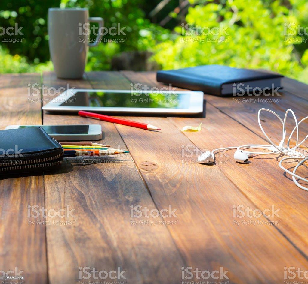 Modern lifestyle background stock photo