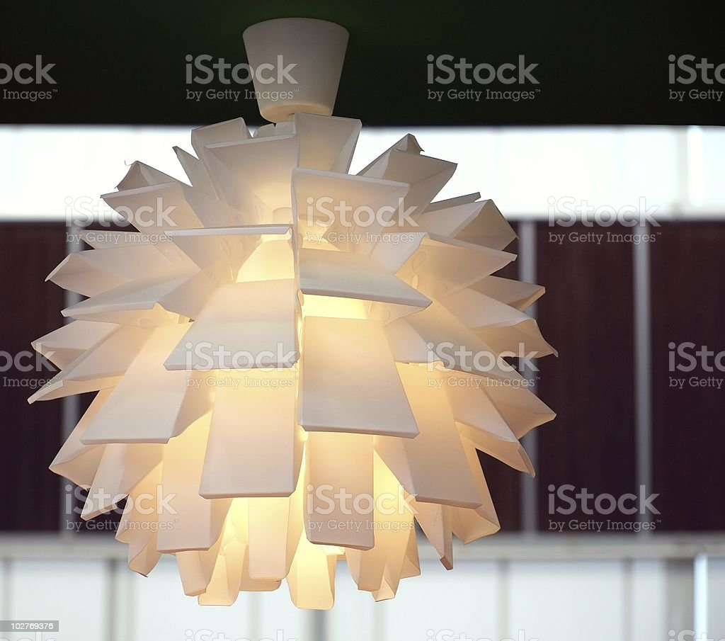 Modern Light Fixture stock photo