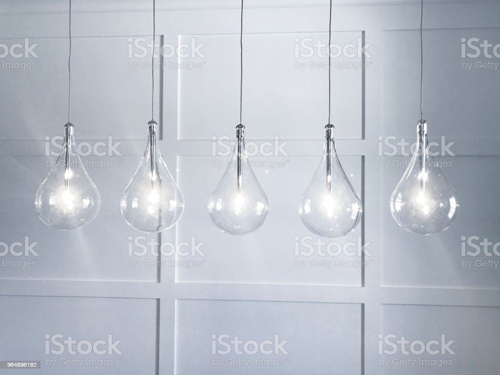 Modern Light Fixtures royalty-free stock photo