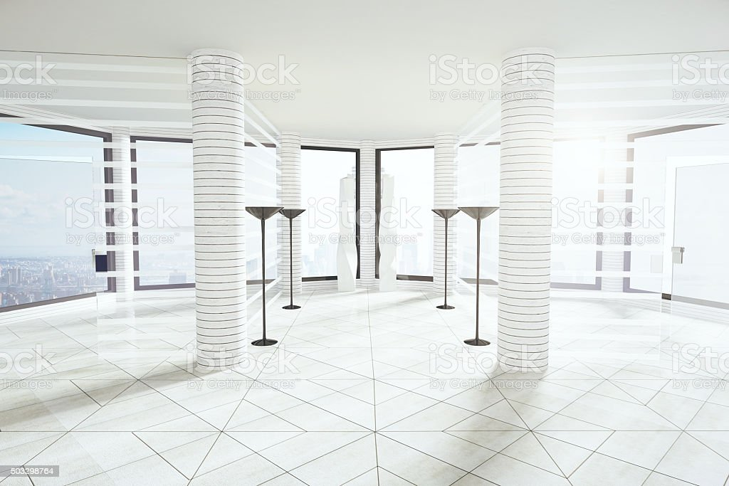 Fenster Loft moderne leichte loft leeres büro mit fensteretage stock fotografie