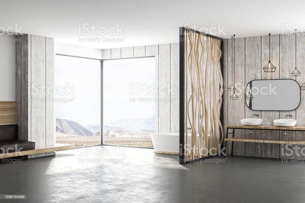 Photo libre de droit de Salle De Bain Style Loft Lumière Moderne banque  d\'images et plus d\'images libres de droit de {top keyword}