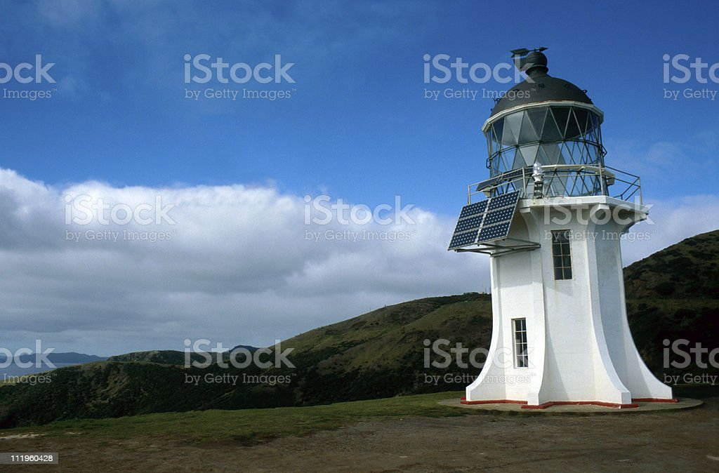 modern lighthouse stock photo