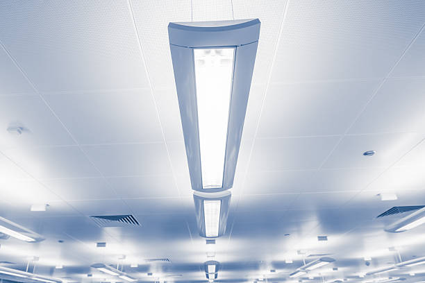 Modern lighting bars indoors stock photo