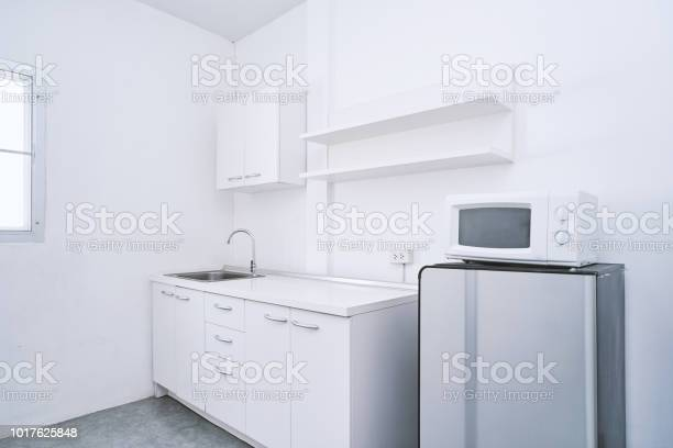 Modern living concept white clean kitchen room with builtin furniture picture id1017625848?b=1&k=6&m=1017625848&s=612x612&h= 9ylc tsfo4t51gka0dvvakh43fxavf93jtvhugx fo=