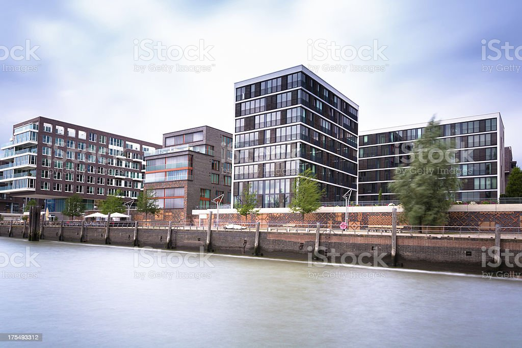 Modern living in the HafenCity Hamburg stock photo