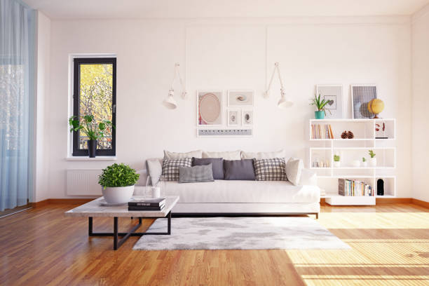 diseño interior moderno de la vida. - foto de stock
