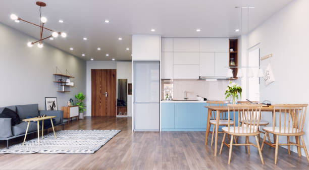 modern  living interior design. stock photo