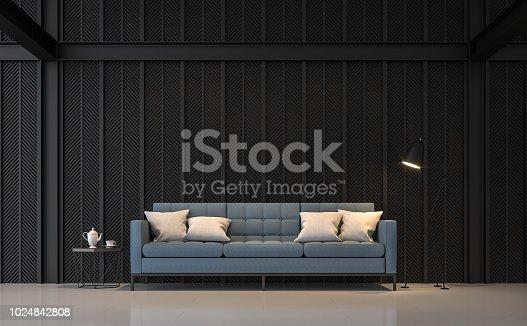 istock Modern living room 3d render 1024842808