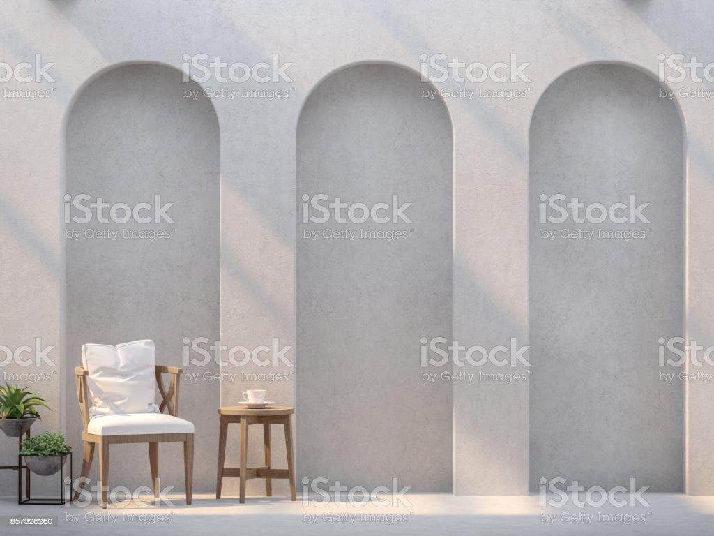 Fabelhaft Moderne Wände Sammlung Von Wohnzimmer Und Leeren Wände Mit Bogen Und
