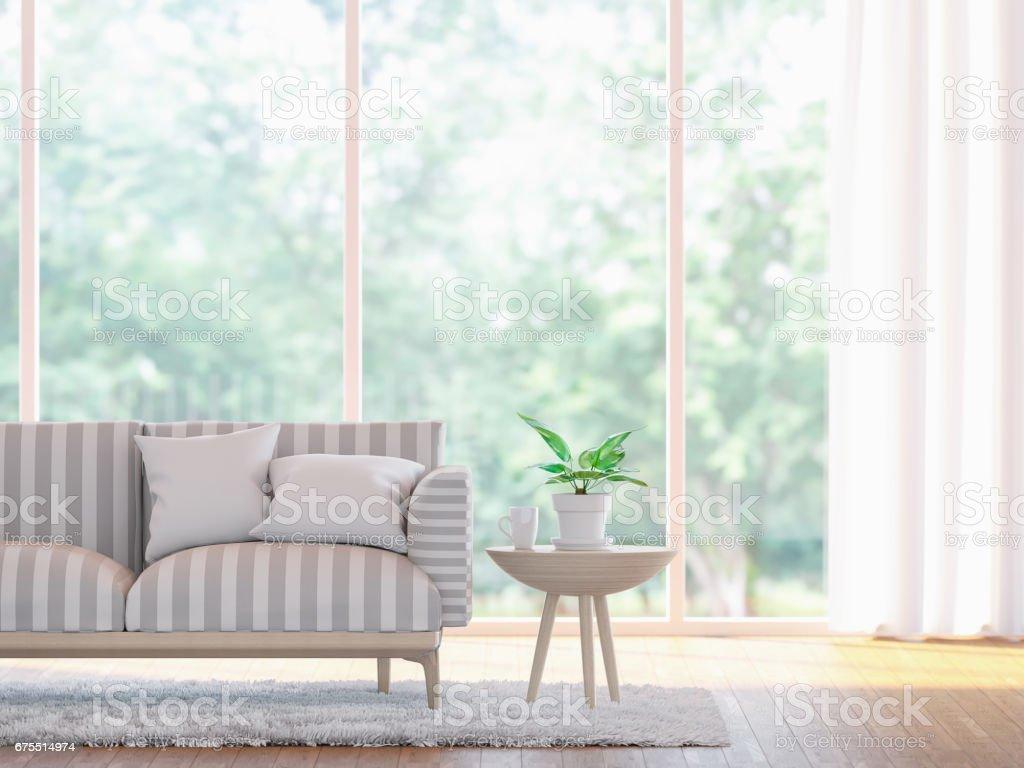 Modern living room close up  3d rendering image