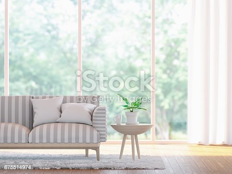 istock Modern living room close up  3d rendering image 675514974