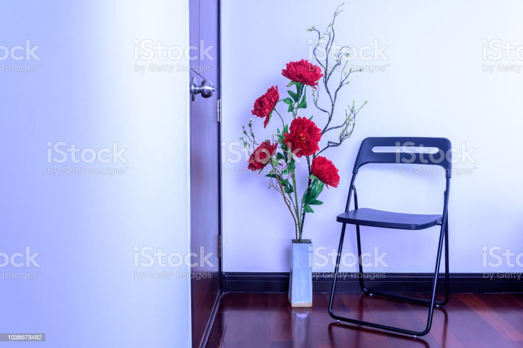 Modern Living Room Decoration With Colorful Artificial Flower Vase Chair Stock Photo Download Image Now Istock