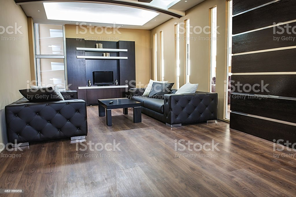 Moderna Sala De Estar Decoración De Interiores Foto de stock y más ...