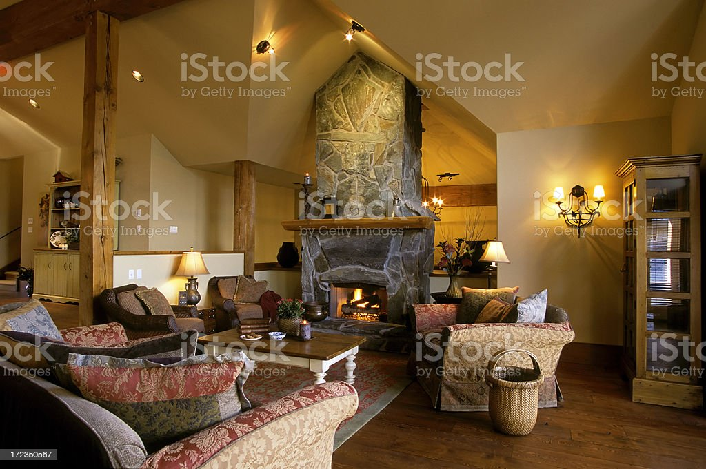 modern living room house interior stock photo