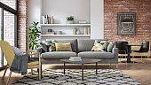 istock Modern living room interior - 3d render 1251299669