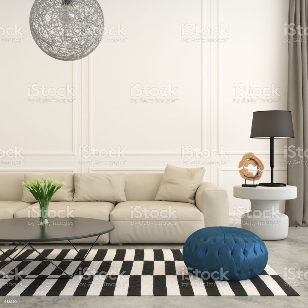 Modern Living Room Interior Background Template Stock Photo Download Image Now