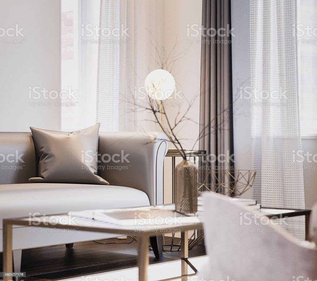 Modern Living Room Interior design stock photo