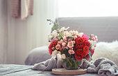 istock Modern Living room interior design with artificial flower vase 1162025512