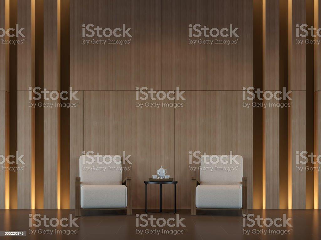 Modern  living room interior minimal style 3d rendering image stock photo