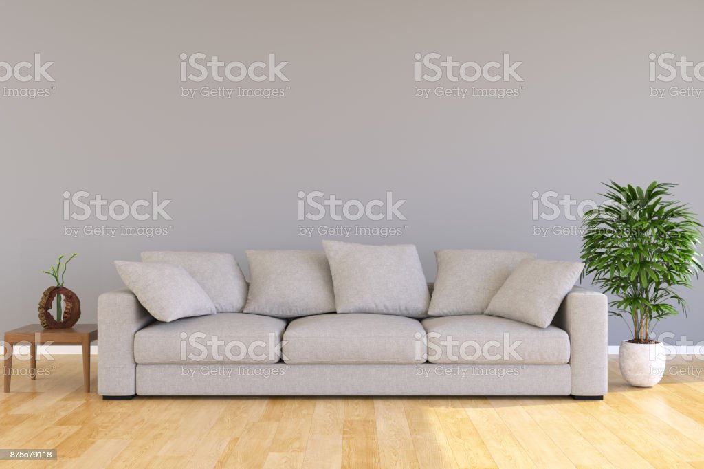 Moderne Wohnzimmer minimalistischen Einrichtungsstil – Foto