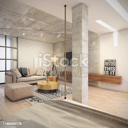 924294300istockphoto Modern living room interior 1186666178