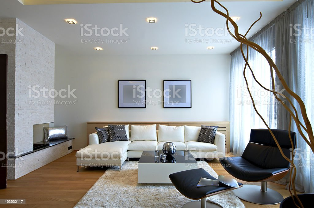 Modern living room interior royalty-free stock photo