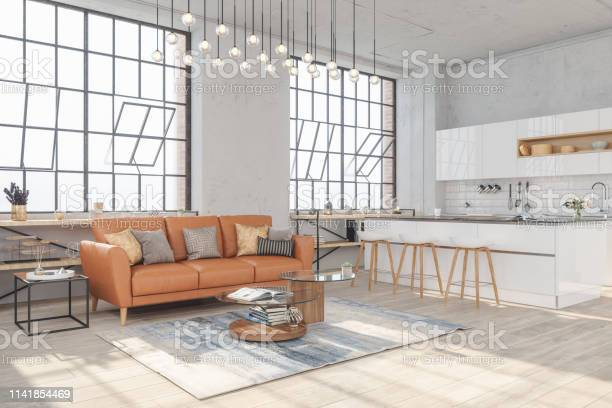 Modern living room interior with hardwood floors and view of kitchen picture id1141854469?b=1&k=6&m=1141854469&s=612x612&h=5djphtltnfvqun5axchcfpflthz2bmzyqeltzt1xndk=