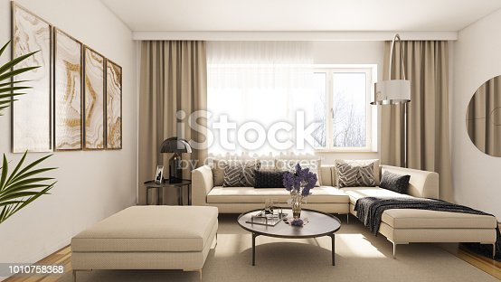Render of Modern Living Room