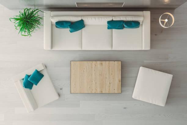 modern living room - coffee table imagens e fotografias de stock