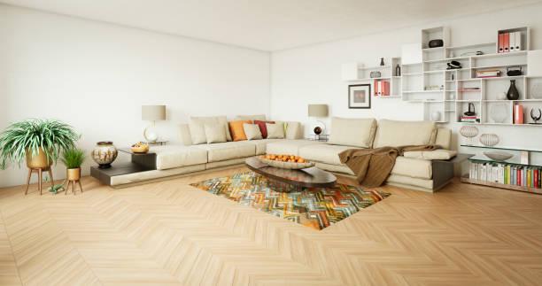 Modernes Wohnzimmer – Foto