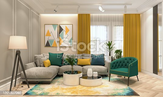 Render of Modern Living Room