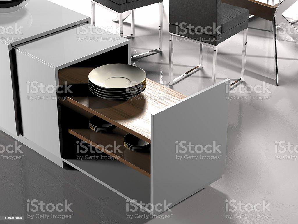Modern living room (detail) royalty-free stock photo