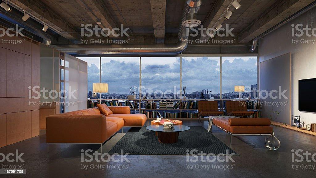 Sala de estar moderna - foto de acervo