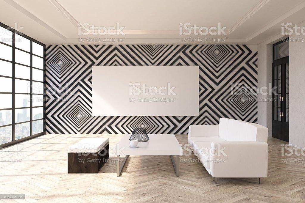 Modern living room royaltyfri bildbanksbilder