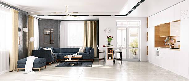 moderne wohnzimmer  - stuhl neu gestalten stock-fotos und bilder