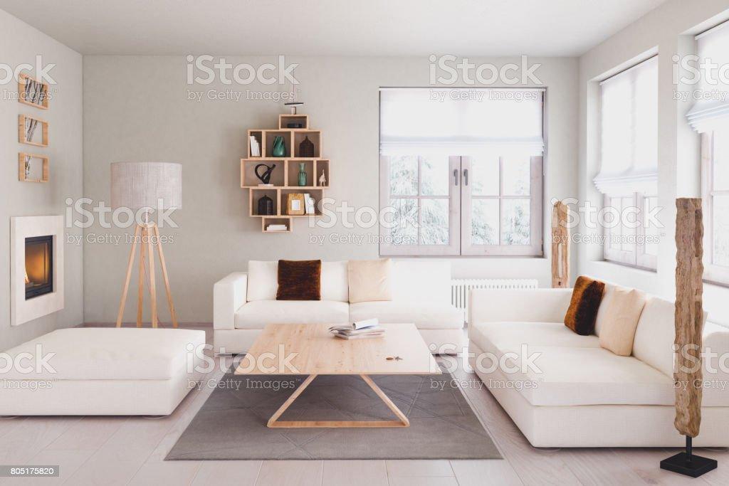 Moderna sala de estar - foto de stock