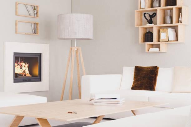 moderne wohnzimmer - couchtisch metall stock-fotos und bilder